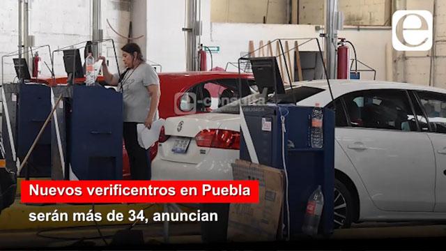 Nuevos verificentros en Puebla  serán más de 34, anuncian