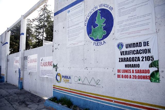 Cierran 17 verificentros en Puebla y ahora buscan abrir 48