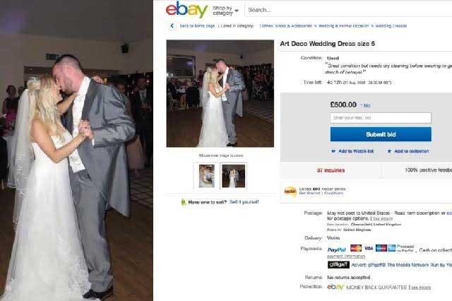 29d534274 Una mujer de 28 años decidió vender su vestido de novia y con el dinero que  obtenido decidió pagar el divorcio