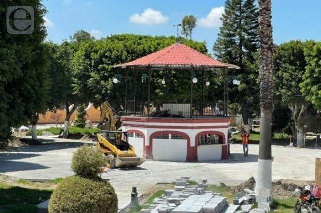 Hallan vestigios en zócalo de San Andrés Cholula