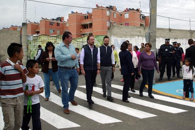 Supervisa Banck dos nuevas vialidades en San Jerónimo Caleras