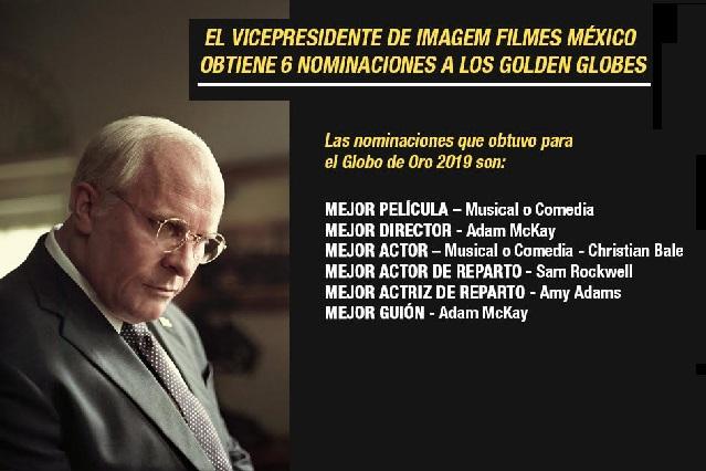 Vice obtiene seis nominaciones para los Globes Awards 2019
