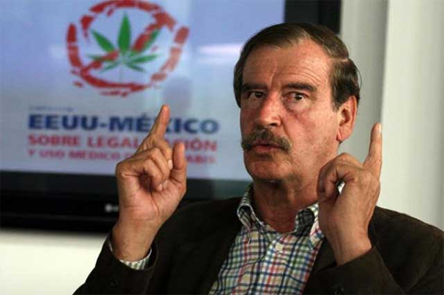 Vicente Fox profetiza que en 10 años todas las drogas serán legales