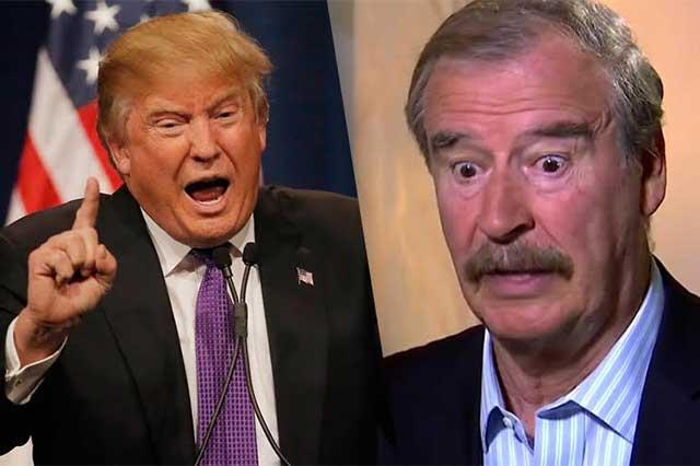 Vicente Fox se raja y le ofrece disculpas a Donald Trump