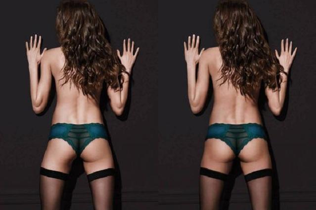 A modelo de Victoria's Secret le borran su atractivo