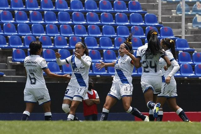 Puebla femenil se despide del torneo con victoria ante América