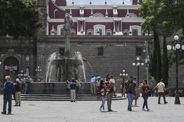 Cerrarán el zócalo de Puebla para evitar aglomeraciones
