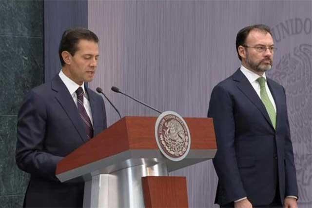 EPN nombra canciller a Luis Videgaray y justifica el gasolinazo