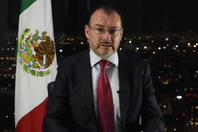 Ebrard será un gran secretario de Relaciones Exteriores, dice Videgaray