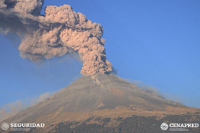 VIDEO Así se ve en vivo el Volcán Popocatépetl