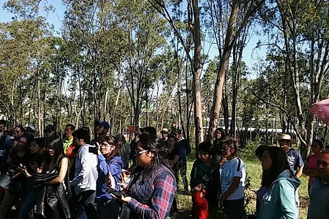 Vigilan a opositores al parque en Amalucan; harán protestas pacíficas