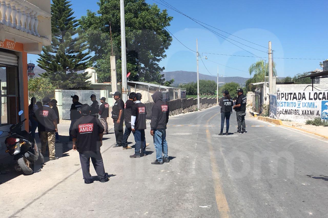 Aumentan seguridad civil en mitin de AMLO