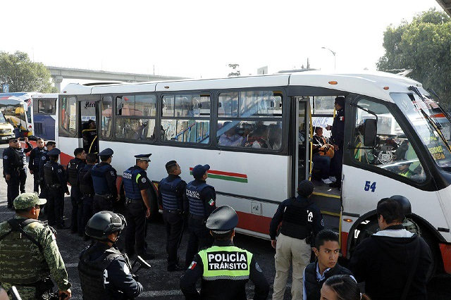 Se mantiene vigilancia en unidades del transporte público: Claudia Rivera