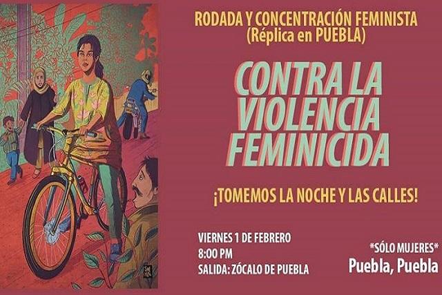 Puebla se suma a rodada nacional contra la violencia feminicida