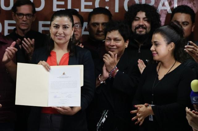 Claudia Rivera es ya presidente municipal electa de Puebla