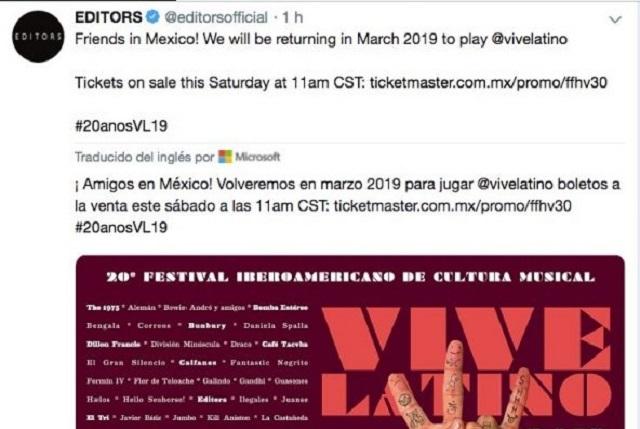 Revelan cartel y quiénes estarán en Vive Latino 2019
