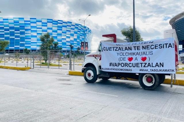 Colectan en Puebla víveres para damnificados de Cuetzalan