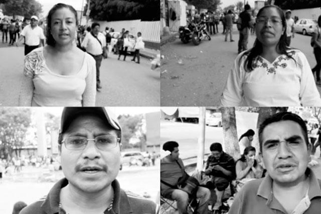 Profesores le dicen en 22 lenguas a EPN y a Nuño que no le temen al despido