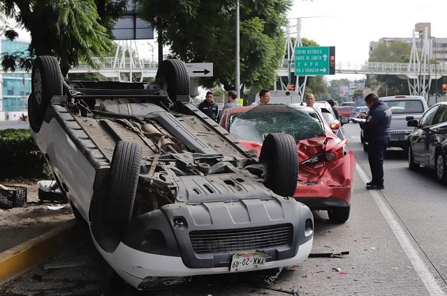 Baja de 13% de accidentes viales en Puebla, reporta Inegi en un año