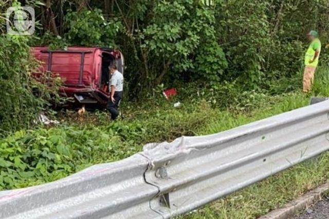Fatal accidente en la México - Tuxpan deja dos muertos