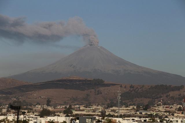 Elevan a Amarillo Fase 3 la Alerta Volcánica del Popocatépetl