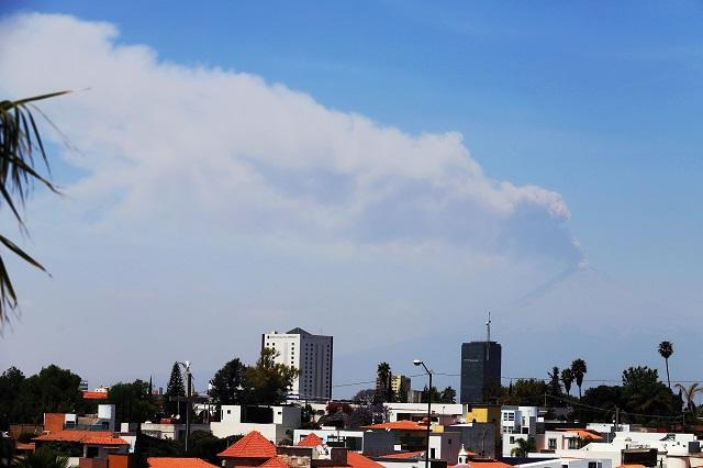 Presentó el Popocatépetl 43 exhalaciones: Protección Civil