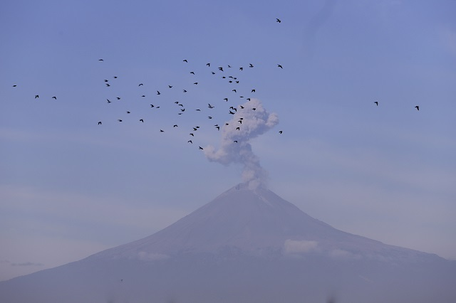 Actividad estable en el volcán reporta Protección Civil estatal