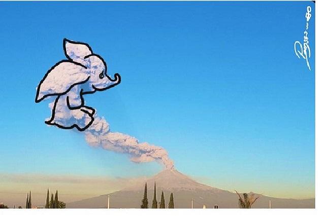 El Volcán Popocatépetl y los memes en Twitter