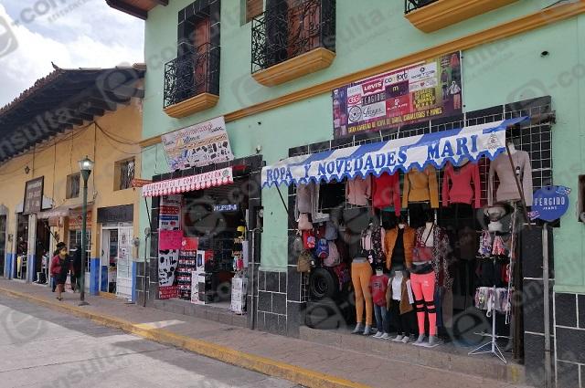 Cierran comercios este domingo en Zacapoaxtla por Covid