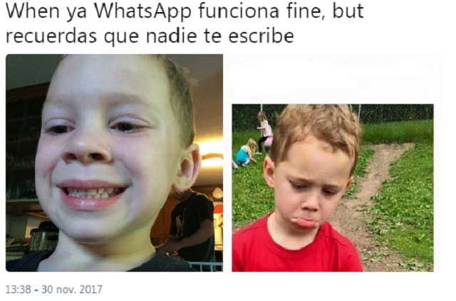 Dramas, memes, problemas y bromas por caída de WhatsApp