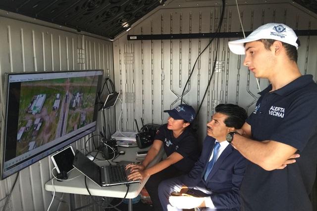 Durango, primer municipio en apoyar la seguridad pública en drones policía