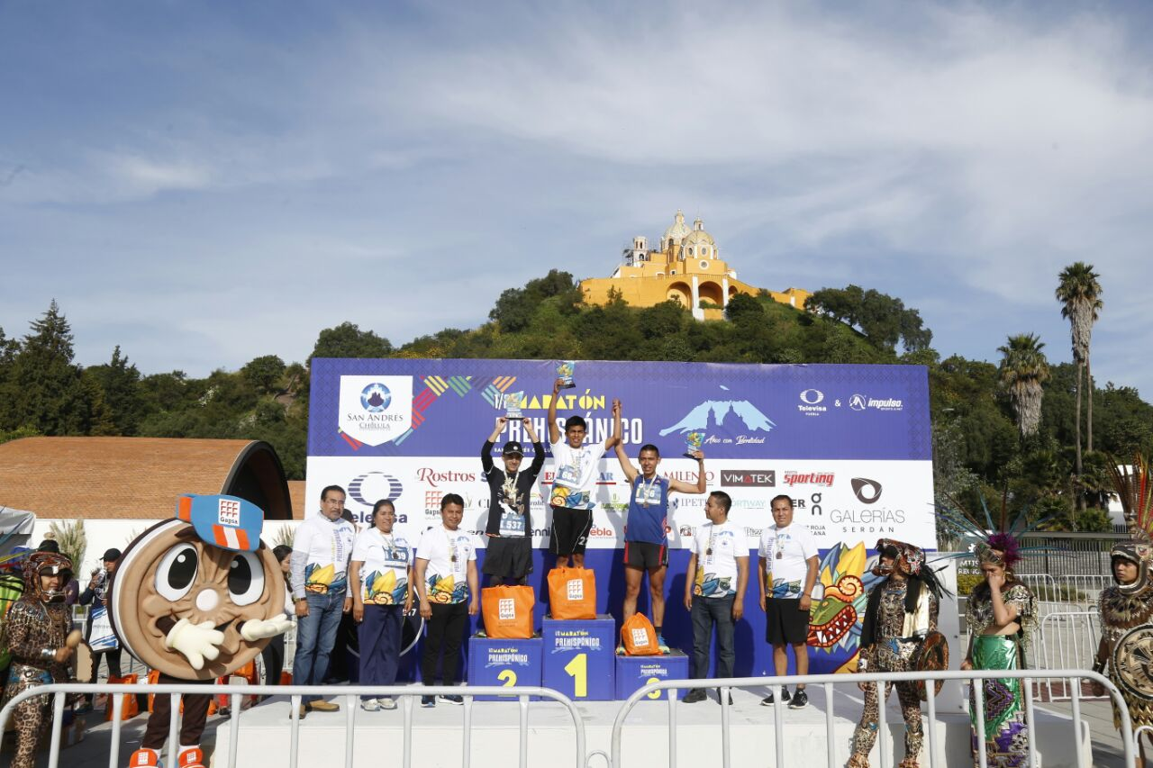 Van más de 2 mil corredores en maratón prehispánico San Andrés Cholula 2017