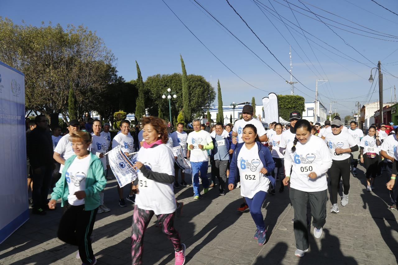 Realizan 6ª Carrera del Médico en San Andrés Cholula