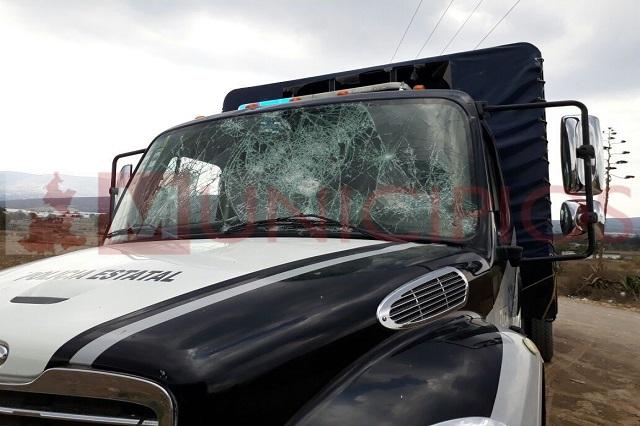 Delincuentes se confrontan con la Policía Estatal en Tezoapan