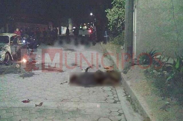 Ahora queman a presunto ladrón en Tlacotepec de Benito Juárez