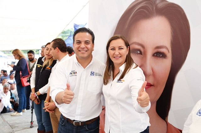 Dice líder nacional del PAN que Martha Erika aventaja a Barbosa