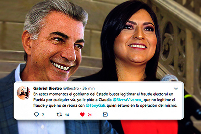 Claudia Rivera se reunirá con Gali, sin la anuencia de Biestro