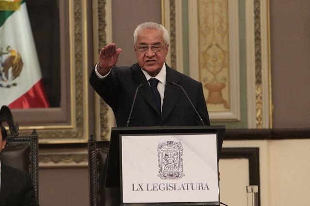 Ofrece Pacheco ya como interino combate a violencia e inseguridad