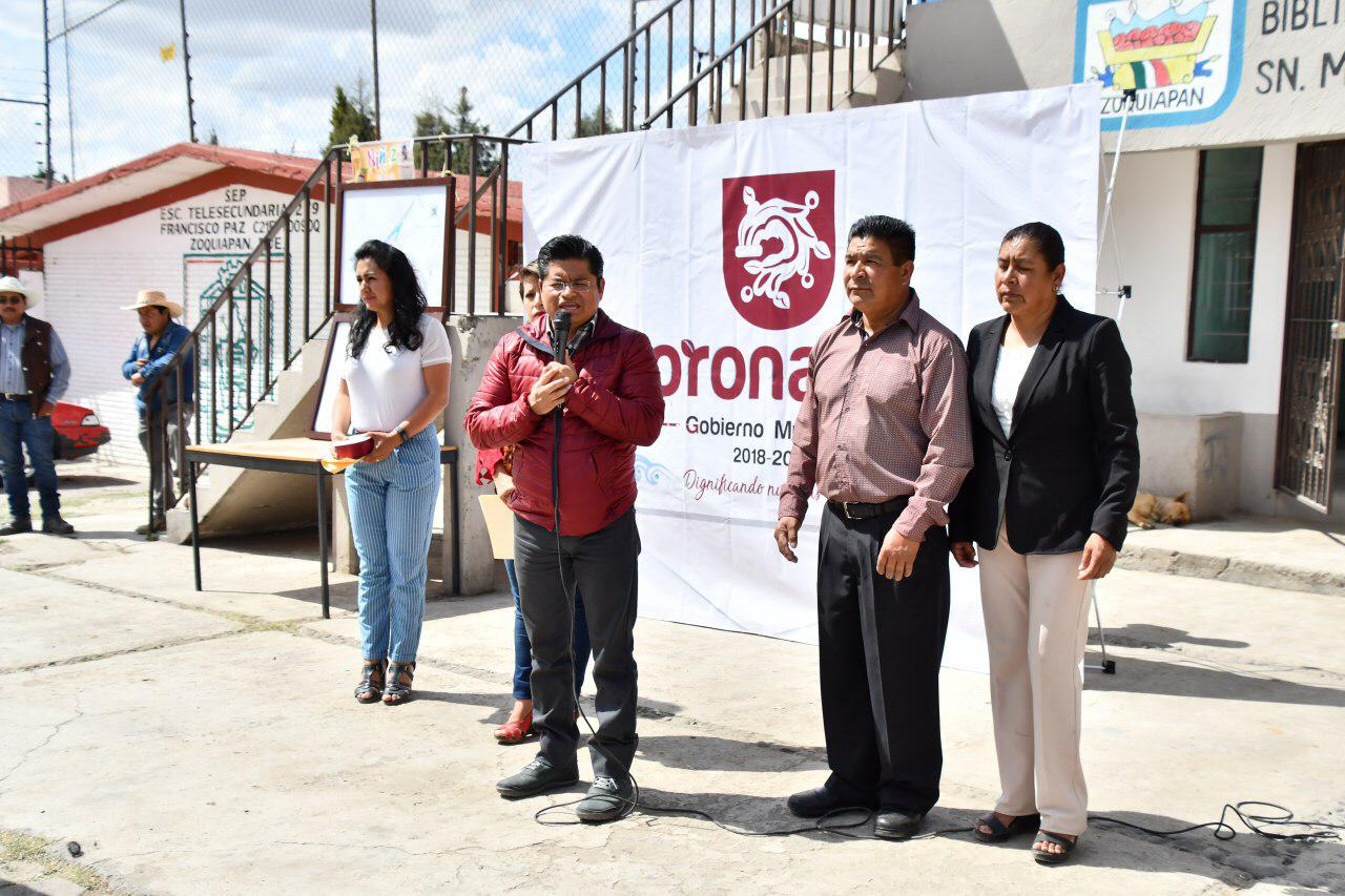 Inaugura e inicia obras edil de Coronango en Zoquiapan