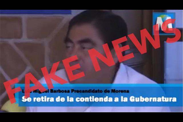 Circula video sobre falsa renuncia de Barbosa y lo achacan a Armenta