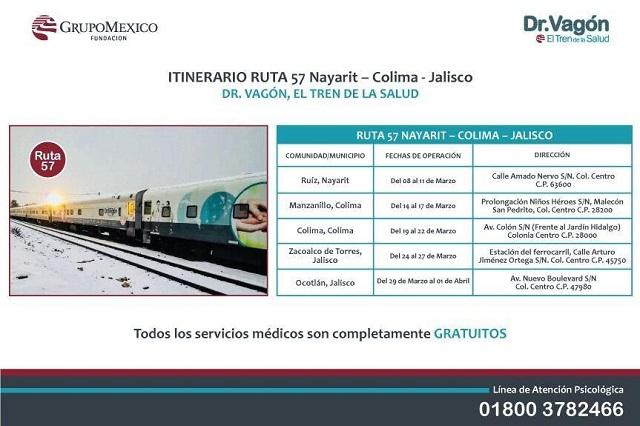 Desmiente SMDIF que Tren de la salud, del Dr. Vagón venga a Puebla