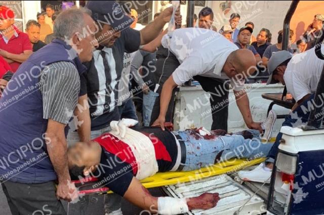 Un muerto y una mujer herida deja balacera en centro de Huejotzingo
