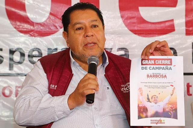 El domingo en Plaza de la Victoria, cierre de campaña de Barbosa