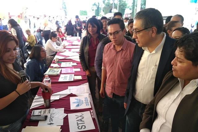 Con más de mil solicitudes, concluye Primer Feria del Empleo en Puebla