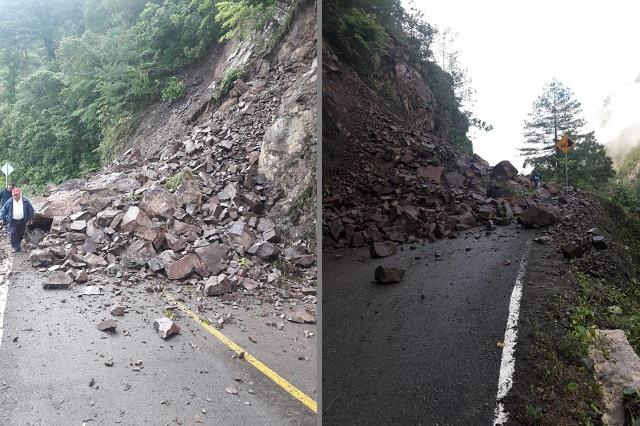 Deslave provoca cierre de la Carretera Interserrana