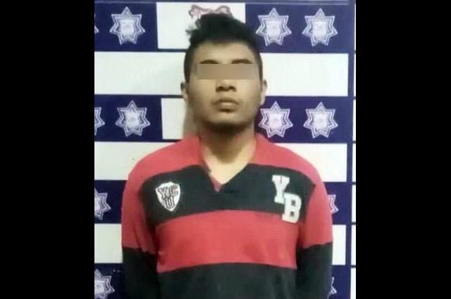 Detiene policía municipal de Huejotzingo a presunto agresor