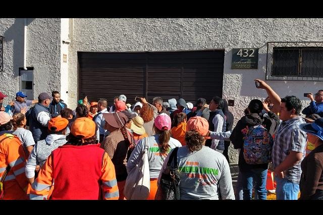 Temen violencia en asamblea de trabajadores de Limpia en Puebla
