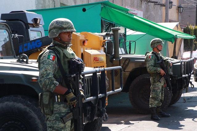 Refuerza seguridad en Huejotzingo con la presencia de la Sedena