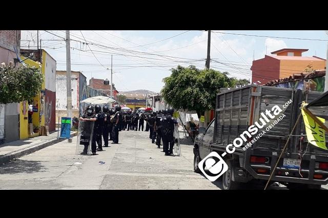 Retira Policía Municipal a comerciantes en Atlixco