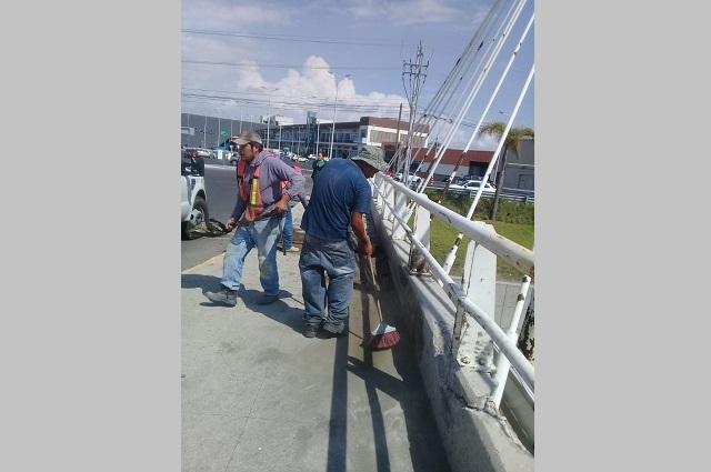 Descartan daños en el Puente de Lomas de Angelópolis